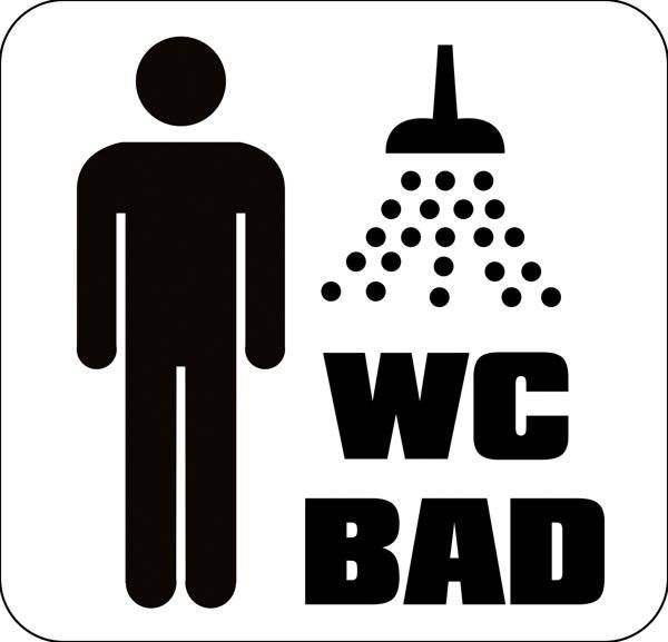 herre WC bad. Toiletskilt