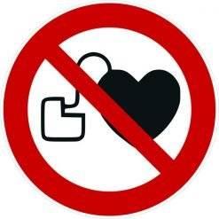 Pacemaker forbudt skilt