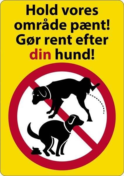 Hold vores område pænt gør rent efter din hund skilt