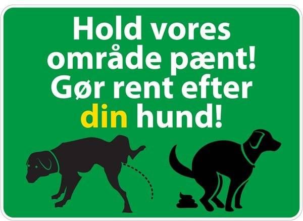 Hold vores område pænt gør rent efter din hund Grøn. skilt