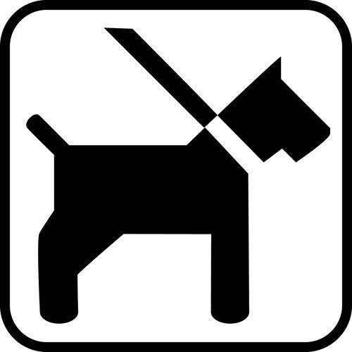 hund - piktogram skilt