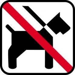 Hund forbudt - piktogram skilt