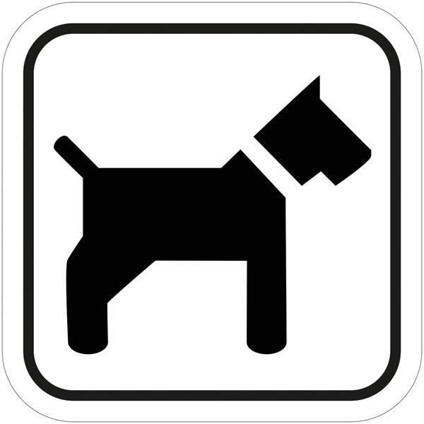 Hund. Piktogram skilt
