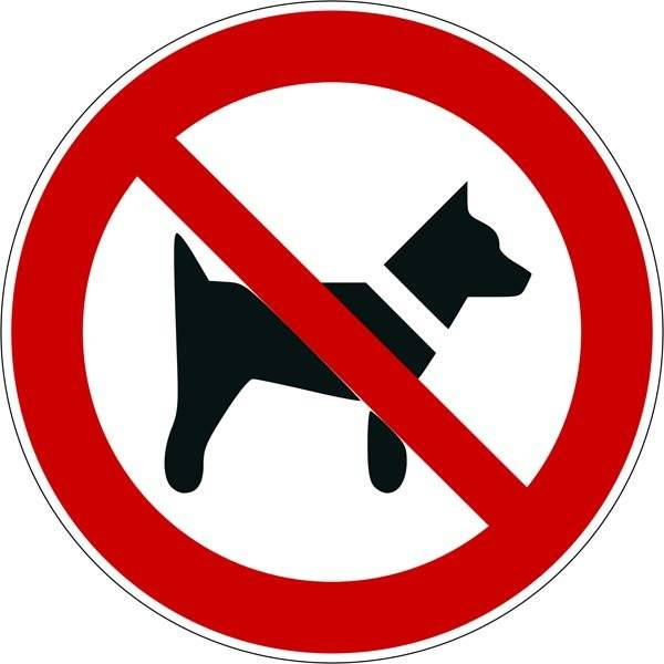 Hund forbudt ISO_7010_P021. Forbudsskilt