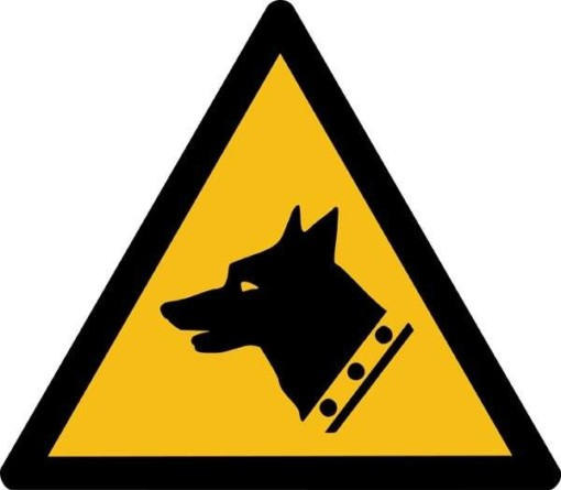 Vagthund ISO_7010_W013. Advarselsskilt