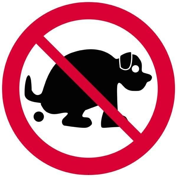Hund lortforbudt. Hundeskilt