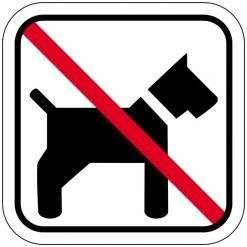 Hunde forbudt piktogram skilt
