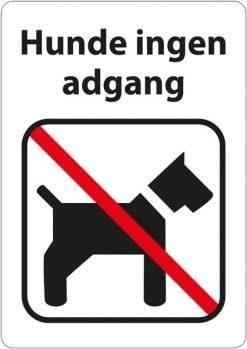 Hunde ingen adgang. Hundeskilt