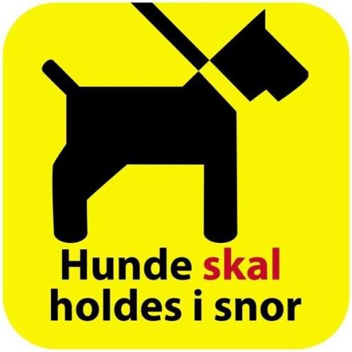 Hunde skal i snor Gul skilt