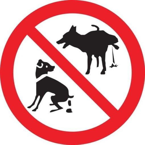 Hunde tisse og lort forbuds skilt. Hundeskilt