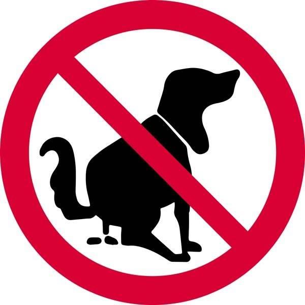 Hundelort forbudt Skilt