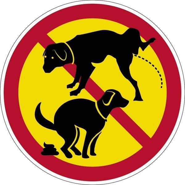 Hundelorte og tisse forbudt skilt