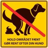 Hundelorteforbudsskilt hold området pænt