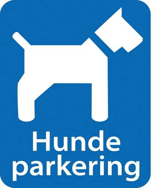 Parkerings skilt: hundeparkering