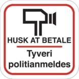 Butikstyveri Skilte