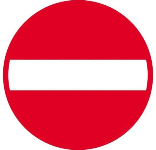 Indkørsel forbudt. Forbudsskilt