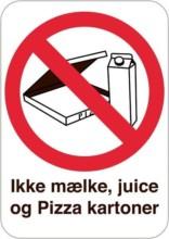 Forbudsskilt - Ikke mælke