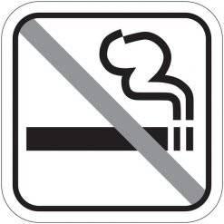 Ingen rygning piktogram skilt