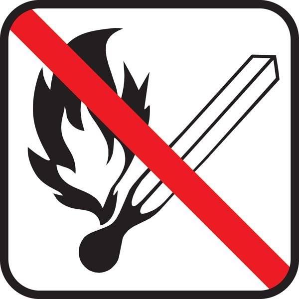 Ild forbudt - piktogram skilt