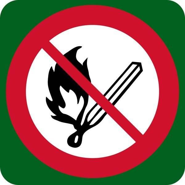 Ild forbudt skilt