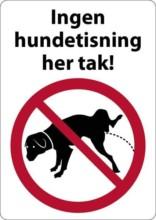 Ingen hundetisning her tak. Hundeskilt