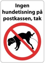 Ingen hundetisning på postkassen