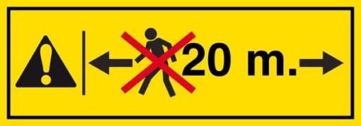 Ingen personer 20 m. Forbudsskilt
