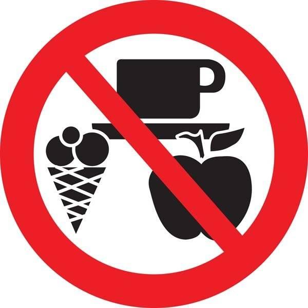 Is kaffe æble forbudt skilt