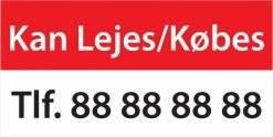 Kan Lejes/Købes. Salgsskilt