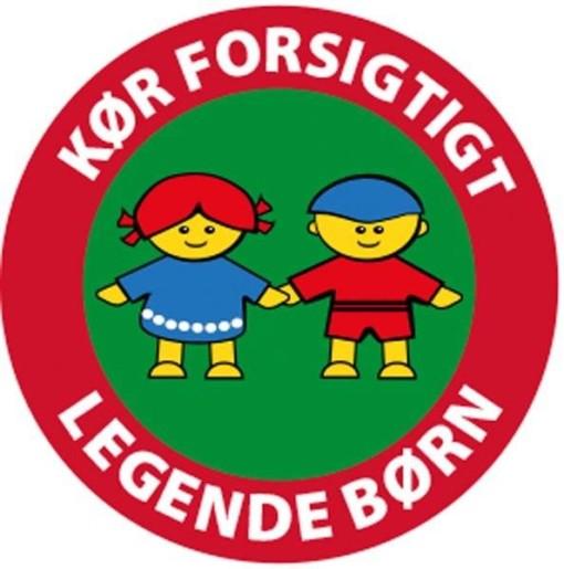 Kør forsigtigt legende børn Grøn Skilt