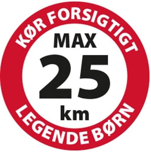 Kør forsigtigt max 25 km legende børn Skilt