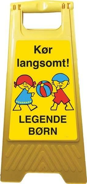 Kør langsomt legende børn Advarsels gulvskilt