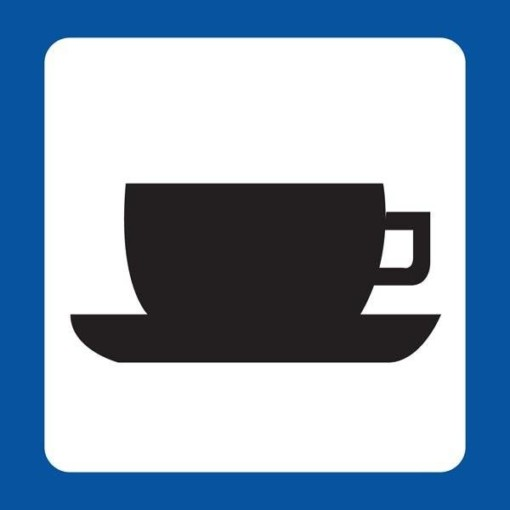 Kaffe Piktogram skilt
