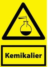 Kemikalier. Advarselsskilt