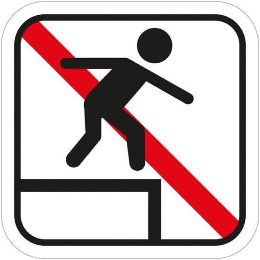 Klatring forbudt piktogram skilt