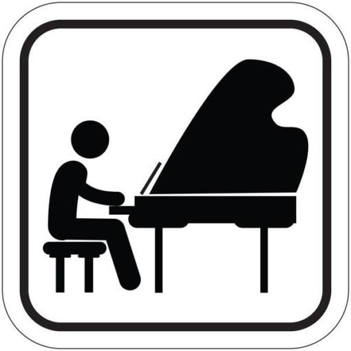 Klaverspil. Piktogram skilt