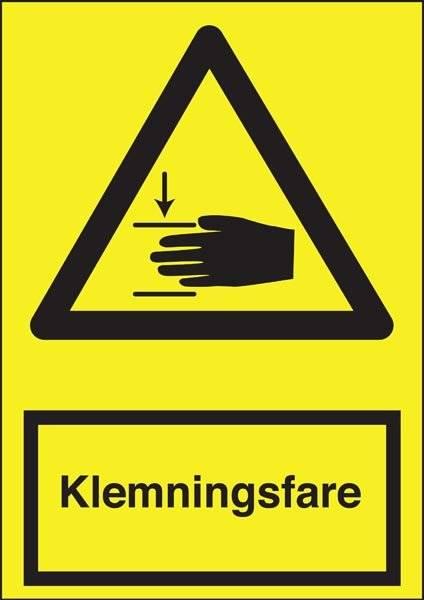 Advarselsskilt - Klemningsfare