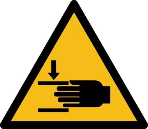 Klemningsfare ISO_7010_W024. Advarselsskilt