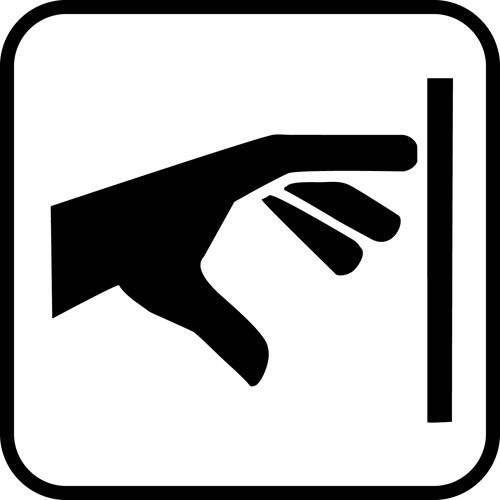 Knap - piktogram skilt