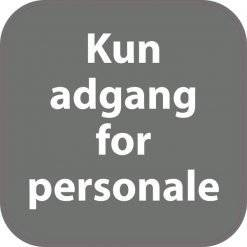 Kun for personale . Piktogram skilt