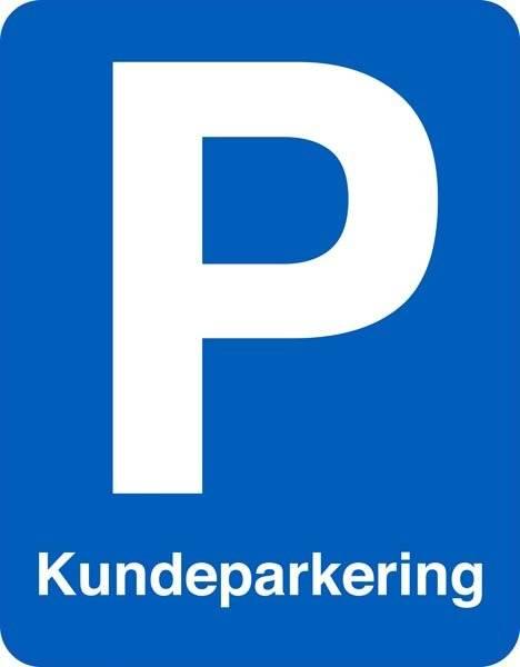 Kundeparkering. Parkeringsskilt