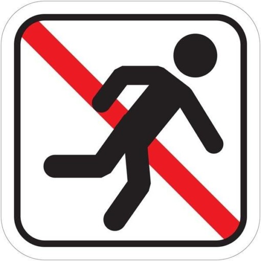 Løb forbudt Piktogram skilt