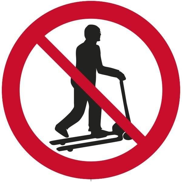 Løbhjuls forbud Skilt