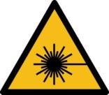Laserstråle fare ISO_7010_W004. Advarselsskilt
