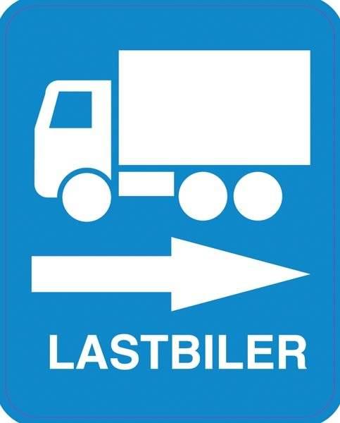 Lastbil til Højre Skilt