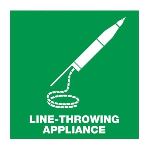 Life-throwing appliancet: Redningsskilt