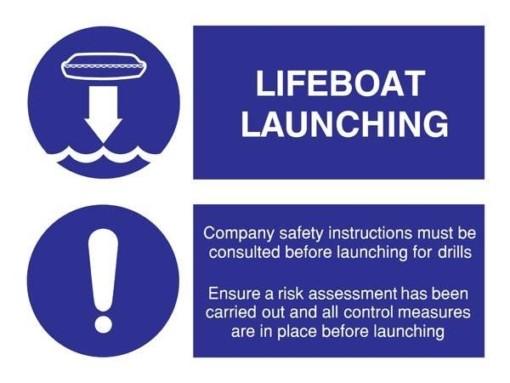 Lifeboat Launching Påbudsskilt