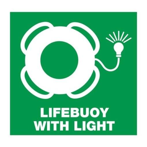 Lifebuoy with light: Redningsskilt