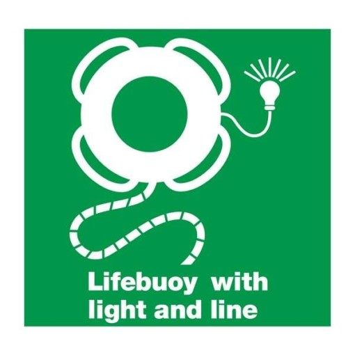 Lifeboat: Lifebuoy with light and line skilt
