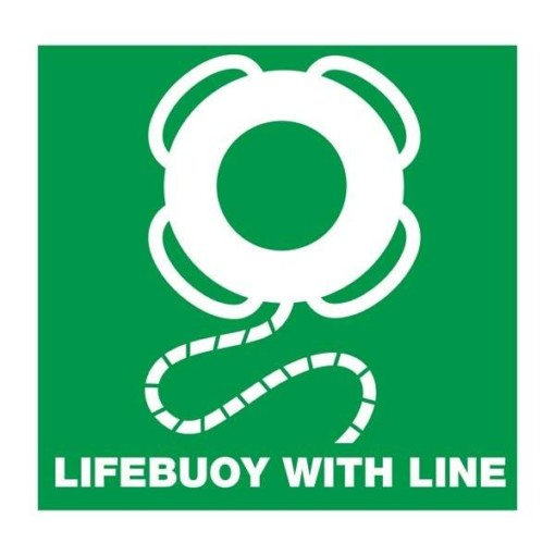 Lifebuoy with line: Redningsskilt